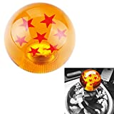 Dewhel 54MM dragon ball Z Manual Gear shift shifter knob JDM 4 5 6 Speed 4 Star Round Universal Fit for Honda Acura Mazda Mitsubishi Nissan Infiniti Lexus Toyota Scion Subaru Hyundai Ford Jeep etc (7 Star)