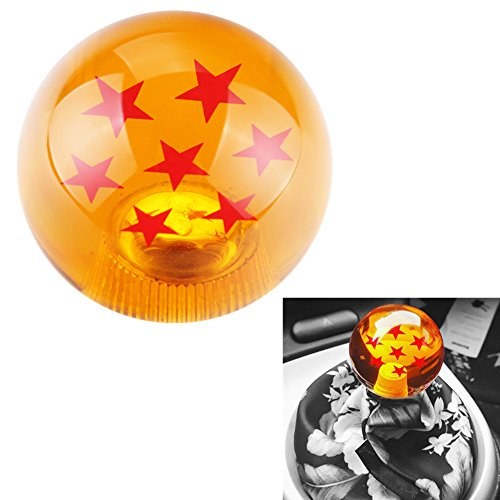 (DEWHEL 54MM Dragon Ball Z Manual Gear Shift Shifter knob JDM 4 5 6 Speed 7 Star Round Universal Fit for Honda Acura Mazda Mitsubishi Nissan Infiniti Lexus Toyota Scion)