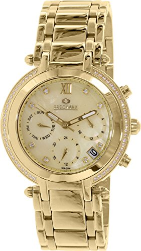 Precimax Women's PX13349 Glimmer Elite Analog Display Swiss Quartz Gold Watch