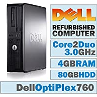 Dell OptiPlex /Core 2 Duo E8400 @ 3.00 GHz/ 4GB DDR2 / 80GB HDD/DVD-RW/WINDOWS 7 PRO 64 BIT-(Certified Reconditioned)