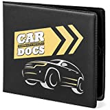 CAR DOCS HOLDER CASE for Insurance, DMV, Registration, AAA, Auto Club, for Car Truck SUV, Motorcycle, touch fastener closure, safely store important documents in glove box or visor flap. Stress reducing