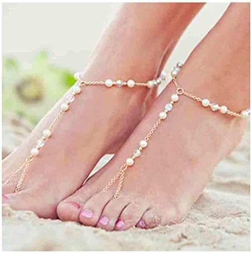 Boho Coin Toe Ring Women Retro Barefoot Anklet Jewellery Fashion Foot Chain Gift