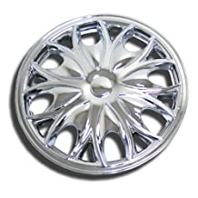 TuningPros WSC-526C15 Chrome Hubcaps Wheel Skin Cover 15-Inches Silver Set of 4
