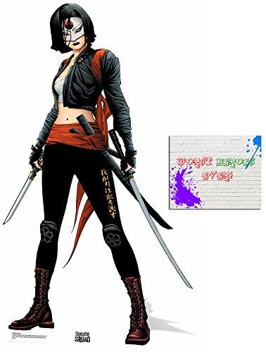 Fan Pack -Katana Suicide Squad Comic style Official DC Comics Lifesize Cardboard Cutout / Standee / Standup - Includes 8x10 Star Photo by BundleZ-4-FanZ Fan Packs (Image #1)