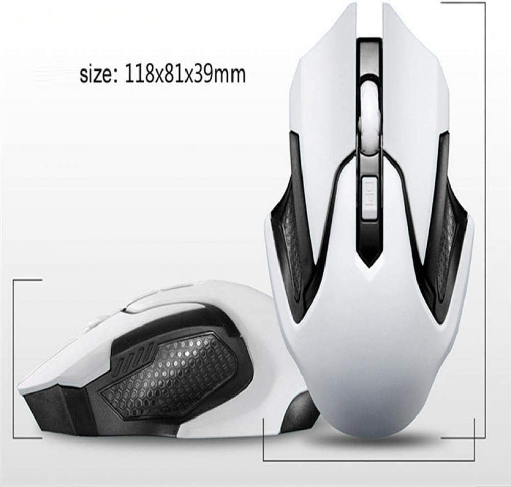 3200 High DPI 2.4GHz Finger Optical Wireless Gaming Mouse USB Receiver Pro Gamer Mice for PC Laptop 20J White