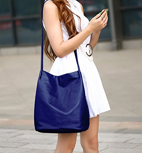 Handbags Purse Hobo Bucket Shoulder Womens Bags Leather Tote Blue Bags tqaO6Uwv