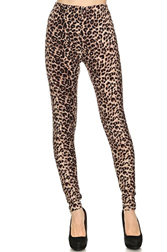 Women's Regular Brown Cheetah Animal Pattern Printed (Animal Pattern)