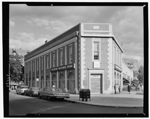 Photo: Sterling National Bank,101-25 Queens Blvd.,Forest Hills,Long Island. Exterior - Forest Hill Blvd