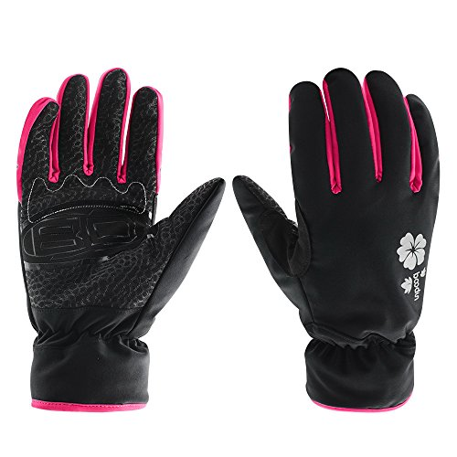 Ski Gloves, Waterproof Thermal Winter Ski Gloves Snowboard Snowmobile Motorcycle Cycling Outdoor Sports Gloves (M, Pink)