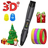3D Printing Pen, SUNLU 3D Pen with PLA/ABS/PCL Filament Supported,OLED Display,for Kids and Adults, 3D Modeling, Art Design - Black
