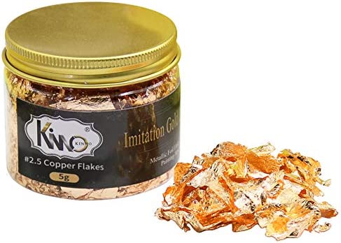 MQOUNY Gold Foil Flakes for Resin Crafts Nails,DIYs,Furniture Decpration Golden Gold Metallic Foil Flakes for Nails,Painting Arts