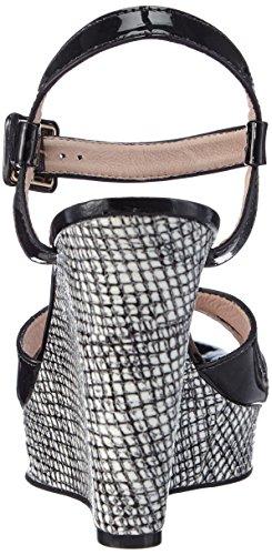 Primafila 961012 - Sandalias de vestir de cuero para mujer multicolor - Mehrfarbig (BLACK-BORAT)