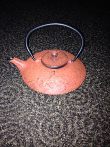 Terracotta Cast Iron Teapot .8 litre / 27 oz