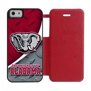 Generic Custom Unique Design NCAA University of Alabama Crimson Tide Team Logo Cover Case for iPhone5 iPhone5S