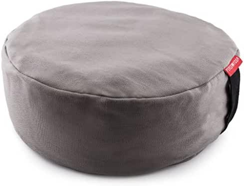 Peace Yoga Zafu Meditation Yoga Buckwheat Filled Round Cotton Bolster Pillow Cushion - Choose your Color and Size
