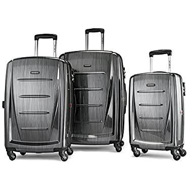 Samsonite Luggage Winfield 2 Fashion HS 3 Piece Spinner Set Charcoal