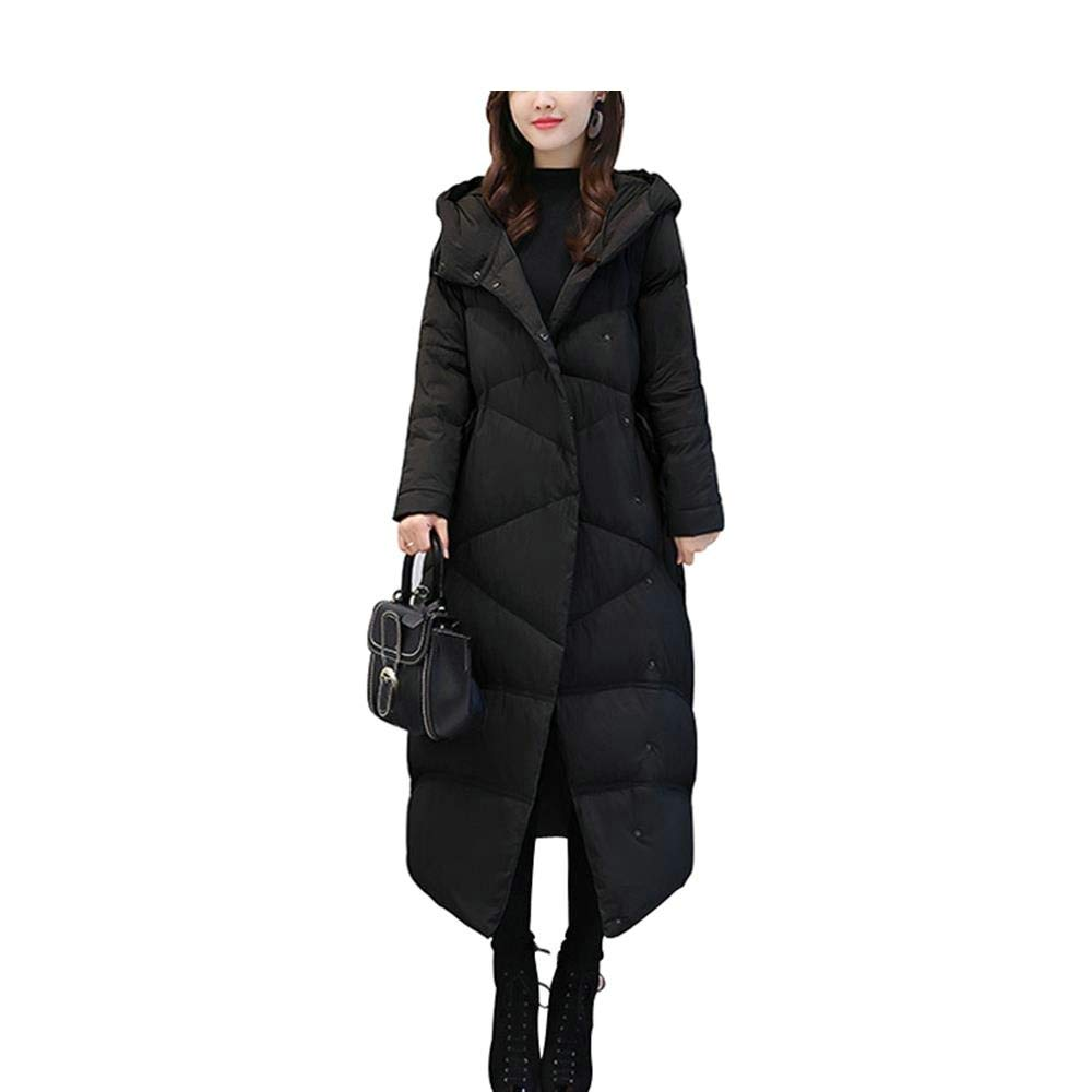 Dotoo 90/% White Duck Down Winter Down Jacket Female Long Section Loose Casual