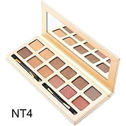 Matte Eyeshadow, Hunzed Women Cosmetic Eyeshadow Makeup Luxury Eyeshadow Palette For Beauty (H)