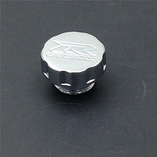 Motorcycle Chrome Billet Oil Filler Brake Reservoir Cap For Suzuki Gsxr 600 750 1000 (Chrome Billet Oil)