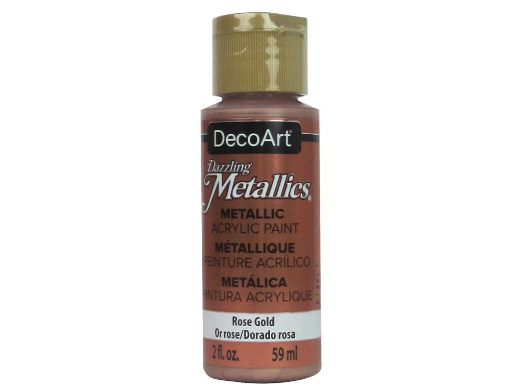 Deco ArtDazzling Metallics Acrylic Paint 2oz-Rose Gold, Other, Multicoloured DECDA-3.336