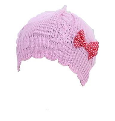 53f2d3a251ae OHmais Automne Hiver Bonnet bébé oreilles chapeau imprimé pour bébé fille  garçon rose size S