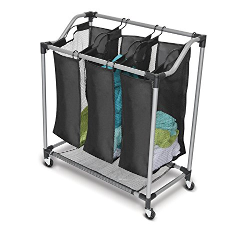 Homz Triple Sorter (Laundry Sorter With Mesh Bags)