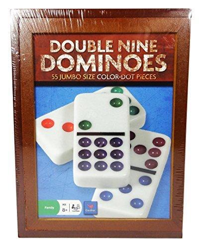 Cardinal Industries Double Nine Dominoes 55 Jumbo Size Color-Dot Pieces