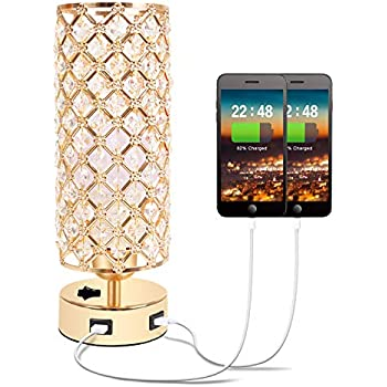 Amazon Com Haitral Gold Crystal Table Lamp Vintage