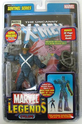 Marvel Legends Series 10 Cyclops Figure - Variant X-Factor Outfit from Marvel