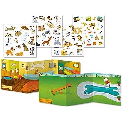 Peaceable Kingdom Sticker Fun Dog Days Reusable Sticker Tote: Toys & Games