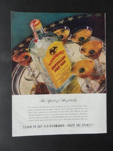 Fleischmann's Dry Gin , full page print ad. 10 1/2