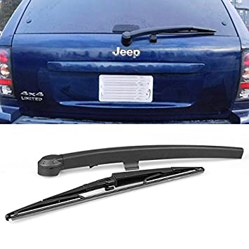 Negro Trasero Ventana Limpiaparabrisas + hoja Set para Jeep Grand Cherokee (modelos de 2005 2006 2007 2008 2009 2010: Amazon.es: Coche y moto