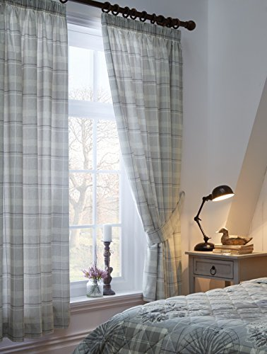 One pair of 'Tatton Patchwork' 66x72 Curtains (width by drop) by Dreams 'n' Drapes by NULL
