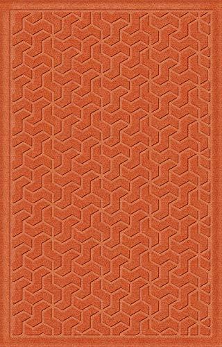 - American Floor Mats Windmill Designer Floor Mat - Orange 2' x 3' with Gripper Backing, Matching Fabric Borders