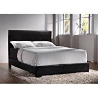 Bowery Hill Upholstered Platform California King Bed in Black