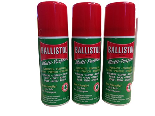 Ballistol Multi-Purpose Travel Size Non-CFC Aerosol Can Lubricant Cleaner Protectant 1.5 oz, 3 Pack