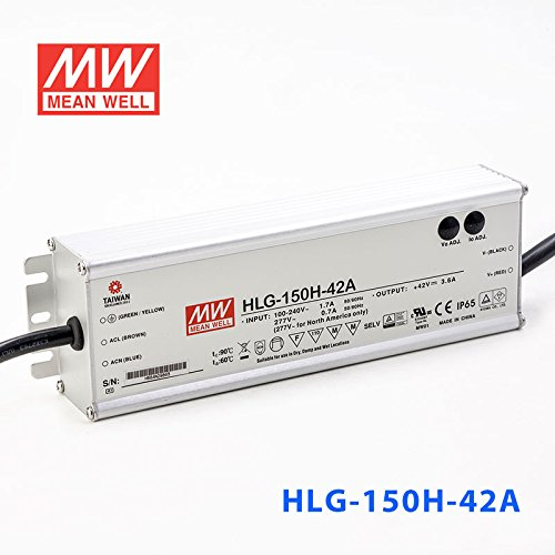 Meanwell HLG-150H-42A Power Supply - 150W 42V 3.6A - IP65 - Adjustable Output