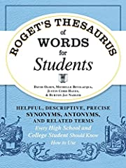 The ultimate tool for students!Tired of using the same few phrases in all your presentations? Can't find the right expression to begin your college admissions essay? Stuck with a drab, uninspiring conclusion at the end of your research paper?Roget's ...