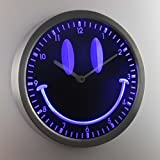 nc0928-b Smiley Face Room Decor Gift Neon Sign LED Wall Clock
