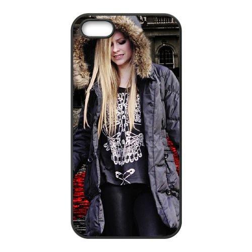 Avril Lavigne 2 coque iPhone 4 4S cellulaire cas coque de téléphone cas téléphone cellulaire noir couvercle EEEXLKNBC23255