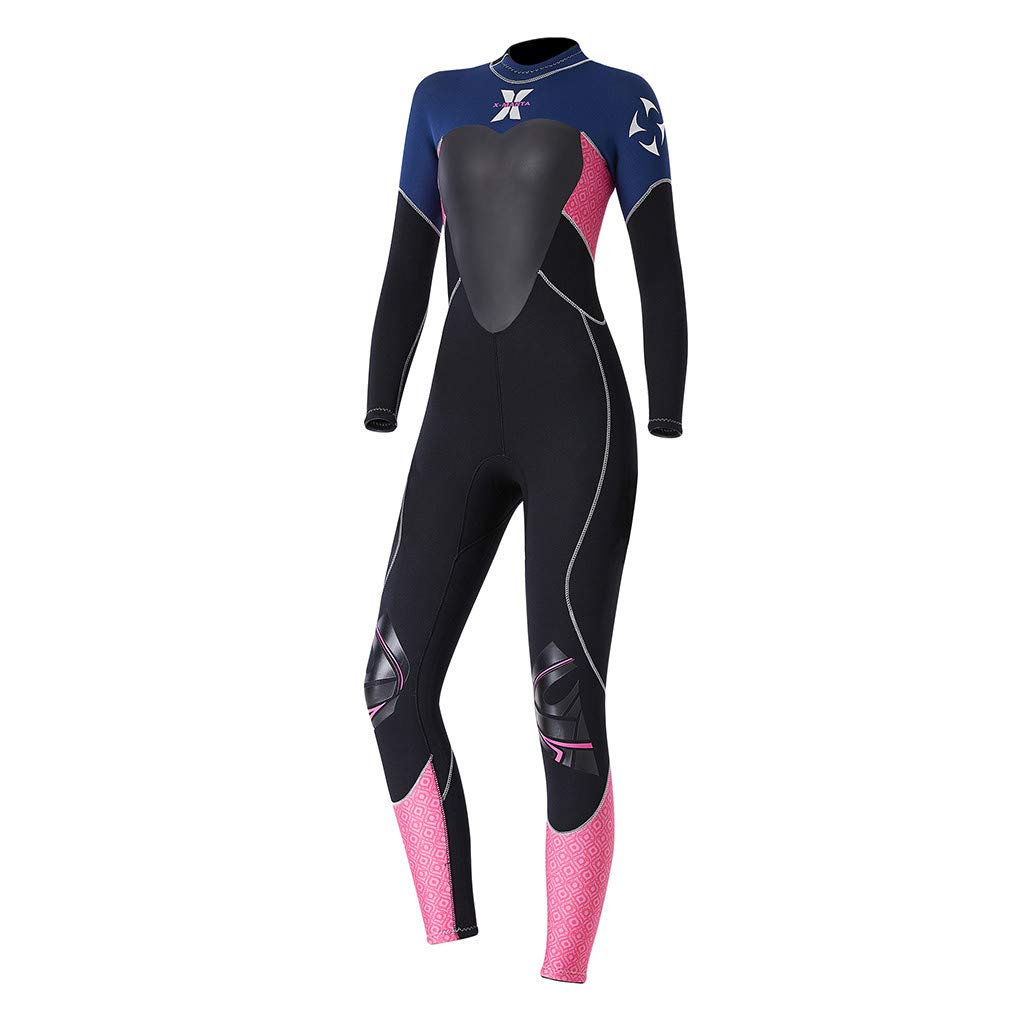 Onegirl Women's Keep Warm Wetsuit Sunscreen Swimming Surfing and Snorkeling Diving Coverall Suit Black by Onegirl Swimsuit (Image #3)
