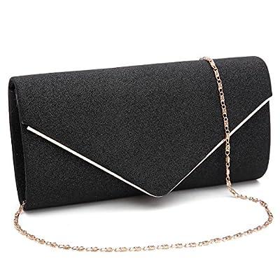 GESU Womens Shining Envelope Clutch Purses Evening Bag Handbags For Wedding and Party.