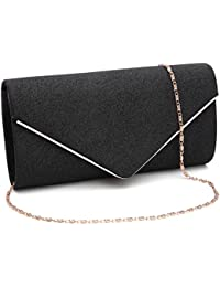 3ea8202a2854 Womens Shining Envelope Clutch Purses Evening Bag Handbags For Wedding and  Party