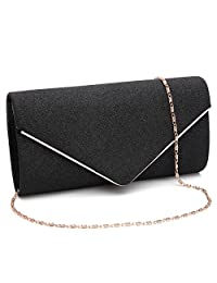 Labair Womens Shining Envelope Clutch Purses Evening Bag Handbags for Wedding and Party