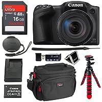 "Canon PowerShot SX420 Digital Camera 42x Optical Zoom Wi-Fi NFC Enabled, SanDisk Ultra 16GB, DSLR Camera Bag, 12"" Tripod and Premium Accessory Bundle"