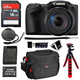 Canon PowerShot SX420 Digital Camera 42x Optical Zoom Wi-Fi NFC Enabled, SanDisk Ultra 16GB, DSLR Camera Bag, 12 Tripod and Premium Accessory Bundle