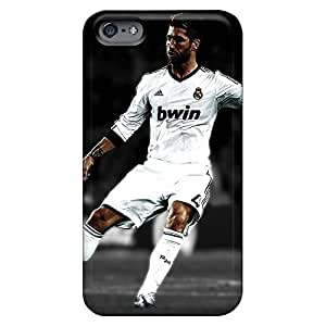 Anti-scratch phone case cover Iphone Hard Cases With Fashion Design covers protection iphone 6 4.7 case 6p - real madrid sergio ramos dribbling