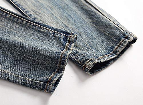 Pantaloni Vestibilità Jeans Piccolo Tempo Color 1 Maschi Di Metà Slim Della Vita Versaces Libero Cotone Dritto Retro z6t4x0