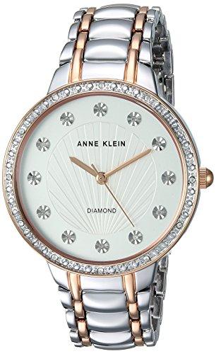 Ladies Two Tone Quartz Watch (Anne Klein Women's Quartz Metal and Alloy Dress Watch, Color:Two Tone (Model: AK/2781SVRT))