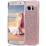 Galaxy Note 7 Bling Hard Case-Auroralove Rose Gold Slim Lighweight Plastic Case for Girls Glittering Beauty Fashionable Cover for Samsung Galaxy Note 7